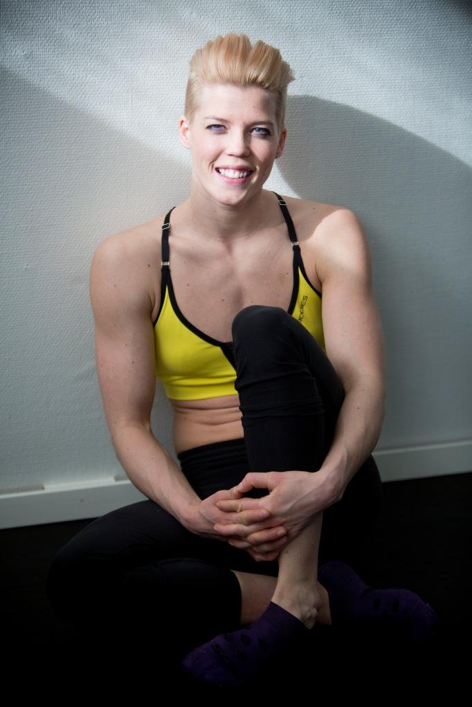 Jessica Fjellström tävlar i Athletic fitness den 6/4.  Foto: Tina Skiöld